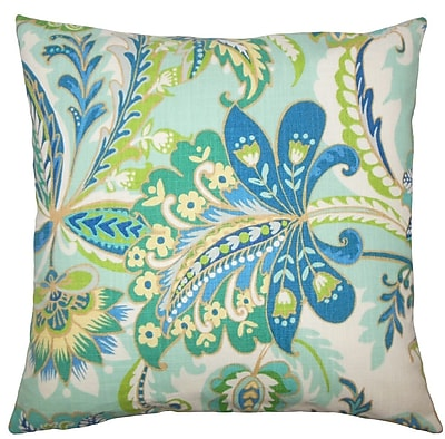 The Pillow Collection Danail Floral Cotton Throw Pillow; 18'' H x 18'' W x 5'' D