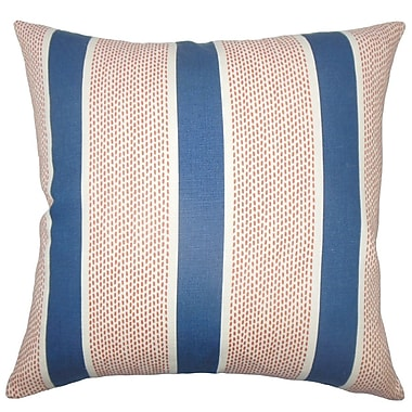 The Pillow Collection Bandele Striped Cotton Throw Pillow; 18'' x 18''