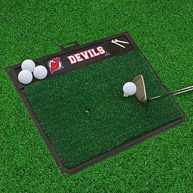 FANMATS NHL - Washington Capitals Golf Hitting Mat; New Jersey Devils