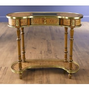 AA Importing Single Drawer Kidney Shape Console Table