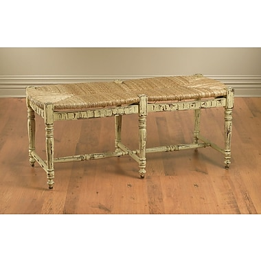 AA Importing Wicker/Wood Bench