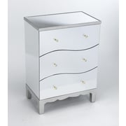 AA Importing 3 Drawer Mirrored Chest