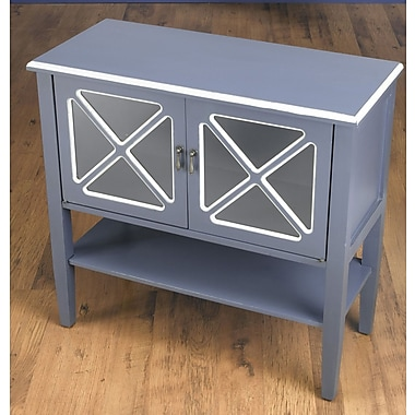 AA Importing 2 Door Accent Cabinet; Blue/White