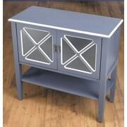 AA Importing 2 Door Cabinet w/ Shelf; Blue/White