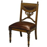 AA Importing Leather Side Chair