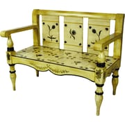 AA Importing Floral Painted Entryway Bench