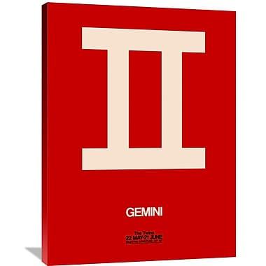 Naxart 'Gemini Zodiac Sign' Graphic Art on Wrapped Canvas in Beige; 40'' H x 30'' W x 1.5'' D