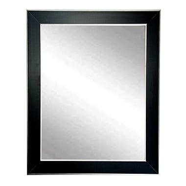 BrandtWorksLLC Black and Silver Designer Accent Wall Mirror; 36'' H x 32'' W