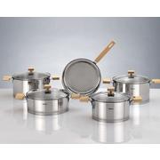 HISR Milan 9 Piece Stainless Steel Cookware Set; Gold