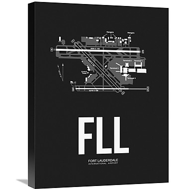 Naxart 'FLL Fort Lauderdale Airport' Graphic Art on Wrapped Canvas; 24'' H x 18'' W x 1.5'' D