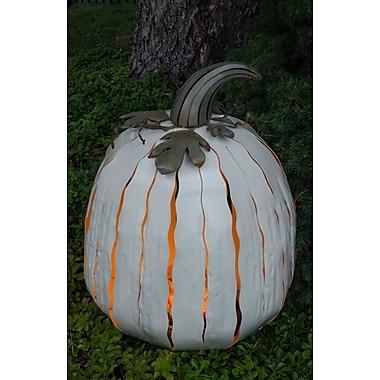 Desert Steel XL White Pumpkin Luminary