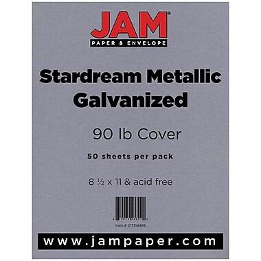 JamMD Stardream Metallic 90 lb. Papier cartonné, 8 1/2 x 11 po, galvanisé, 50 feuilles/paquet