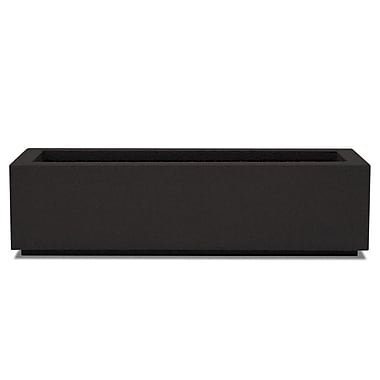 Poly-Stone Planters Rectangular Planter Box; Black