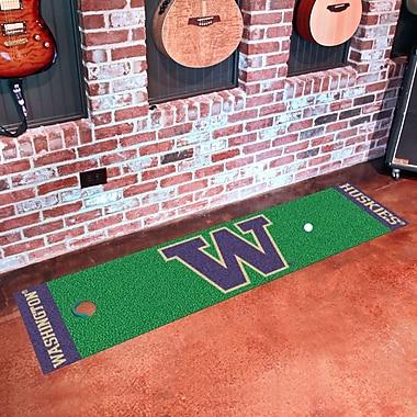 FANMATS NCAA University of Washington Putting Green Mat