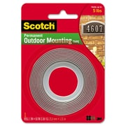 """Scotch Exterior Weather-Resistant Double-Sided Tape, 1"""" X 60"""", Gray"""