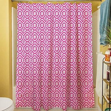 Manual Woodworkers & Weavers Green & Purple Shower Curtain; Purple