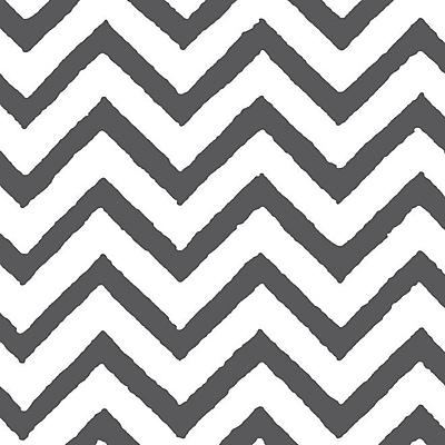 Manual Woodworkers & Weavers Zig Zag Chevron Grey Area Rug; Rectangle 3'1'' x 1'10.5''