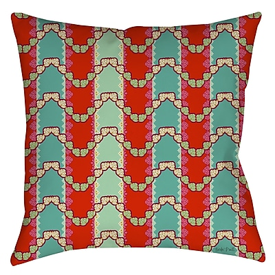 Manual Woodworkers & Weavers Stripe Mint Printed Throw Pillow; 16'' H x 16'' W x 4'' D