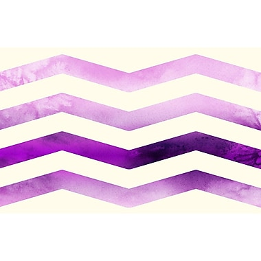 Manual Woodworkers & Weavers Ombre Chevron Purple/White Area Rug; 3'1'' x 1'10.5''
