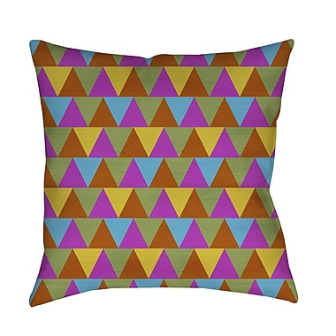 Manual Woodworkers & Weavers Triangles Printed Throw Pillow; 20'' H x 20'' W x 5'' D