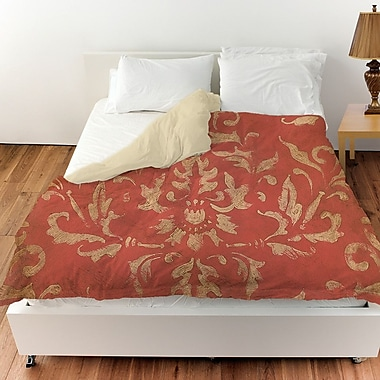 Manual Woodworkers & Weavers Golden Baroque Duvet Cover; Queen