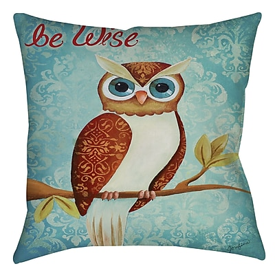 Manual Woodworkers & Weavers Bewise Printed Throw Pillow; 20'' H x 20'' W x 5'' D