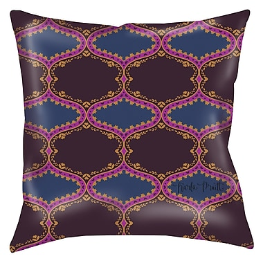 Manual Woodworkers & Weavers Bird Berries Folk Ogee Printed Throw Pillow; 16'' H x 16'' W x 4'' D