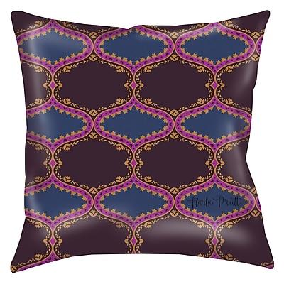 Manual Woodworkers & Weavers Bird Berries Folk Ogee Printed Throw Pillow; 20'' H x 20'' W x 5'' D