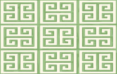 Manual Woodworkers & Weavers Greek Key II Mint Geometric Area Rug; 3'1'' x 1'10.5''