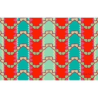 Manual Woodworkers & Weavers Stripe Mint Area Rug; 3'1'' x 1'10.5''