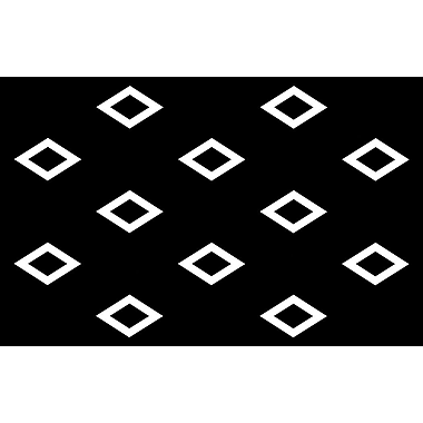 Manual Woodworkers & Weavers Band Black Area Rug; 3'1'' x 1'10.5''