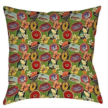 Manual Woodworkers & Weavers Aloha Printed Throw Pillow; 16'' H x 16'' W x 4'' D