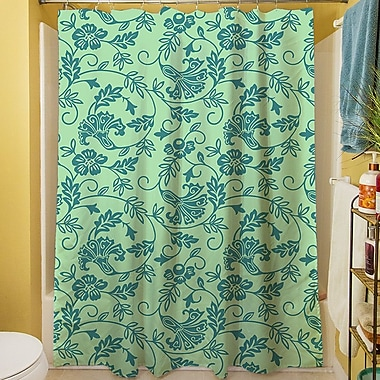 Manual Woodworkers & Weavers Sultry Blues Shower Curtain; Seafoam