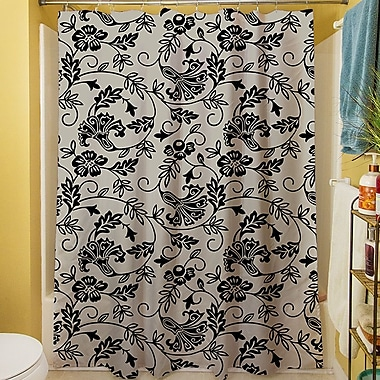 Manual Woodworkers & Weavers Sultry Blues Shower Curtain; Grey