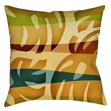 Manual Woodworkers & Weavers Tropical Leaf 1 Indoor/Outdoor Throw Pillow; 20'' H x 20'' W x 5'' D