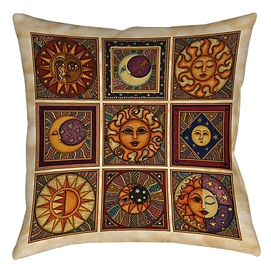 Manual Woodworkers & Weavers Celestial Squares Printed Throw Pillow; 16'' H x 16'' W x 4'' D