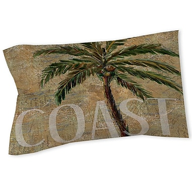 Manual Woodworkers & Weavers Coastal Palm Postcard Sham; Twin