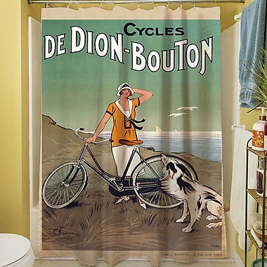 Manual Woodworkers & Weavers Cycles De Doin Bouton Shower Curtain