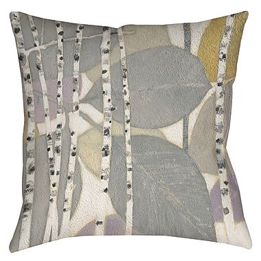 Manual Woodworkers & Weavers Birch Leaf 2 Printed Throw Pillow; 20'' H x 20'' W x 5'' D
