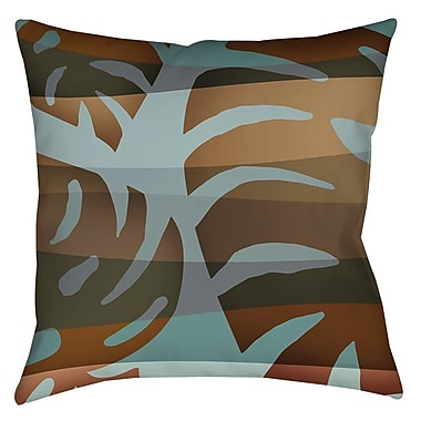 Manual Woodworkers & Weavers Tropical Leaf 4 Printed Throw Pillow; 26'' H x 26'' W x 7'' D