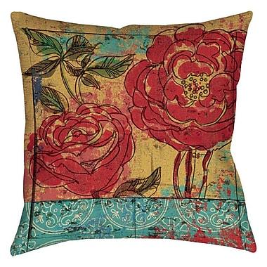 Manual Woodworkers & Weavers Valencia Indoor/Outdoor Throw Pillow; 16'' H x 16'' W x 4'' D
