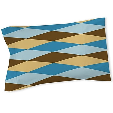 Manual Woodworkers & Weavers Bold in Blue Argyle Sham; Twin