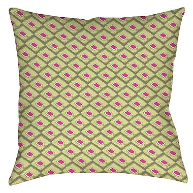 Manual Woodworkers & Weavers Butterfly Diamond Indoor/Outdoor Throw Pillow; 18'' H x 18'' W x 5'' D