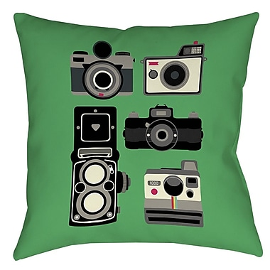 Manual Woodworkers & Weavers Cameras Printed Throw Pillow; 20'' H x 20'' W x 5'' D