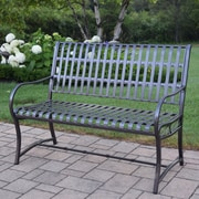 Oakland Living Noble Iron Garden Bench