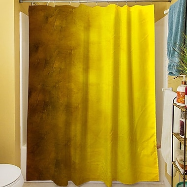 Manual Woodworkers & Weavers Ombre Shower Curtain; Gold