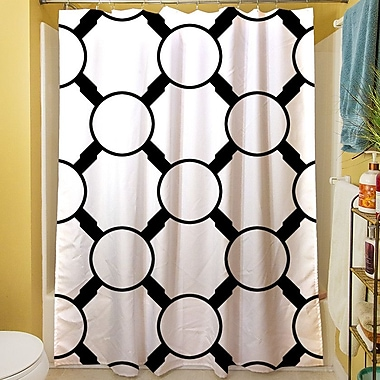 Manual Woodworkers & Weavers Band Shower Curtain; White