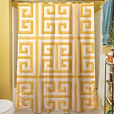 Manual Woodworkers & Weavers Greek Key II Shower Curtain; Yellow