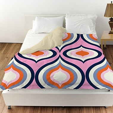 Manual Woodworkers & Weavers Britney Geo Duvet Cover; Twin