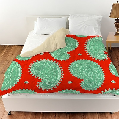 Manual Woodworkers & Weavers Paisley Floral Duvet Cover; Queen